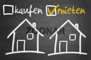 Haus oder Immobilie mieten oder kaufen