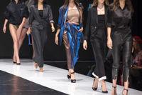 Fashion catwalk runway show models