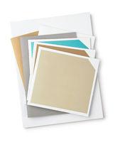 Top view of blank brochures