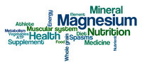 Word Cloud on a white background - Magnesium