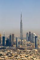 Dubai Burj Khalifa Hochhaus Downtown Luftaufnahme Luftbild