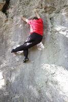 Kletterbewegungen an der Naturwand
