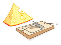 Cheese And Mousetrap Cartoon