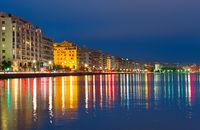 Thessaloniki skyline at twilight, Greece