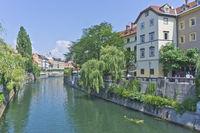 Ljubljana, River View, Slovenia