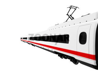 isolated white train on white background