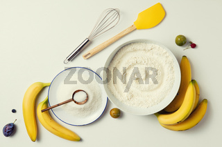 ingredients for the banana cake