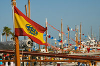 Hafenszene, Flagge