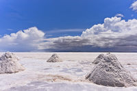 Piles Of Salt, Salar de Uyuni, Bolivia, South America