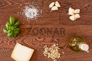 Ingredients for pesto genovese