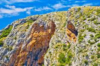 Cikola river canyon cliffs view