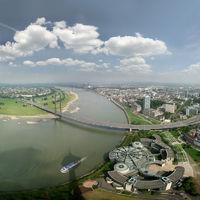 Panorama Düsseldorf und Rhein
