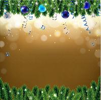 Christmas Border With Fir Tree