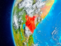 Kenya on Earth from space