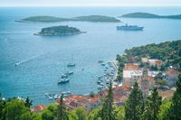Beautiful view of the town of Hvar on the island of Hvar. Dalmatia