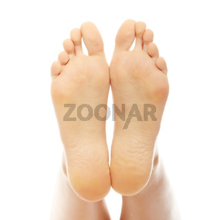 Beautiful female a foot