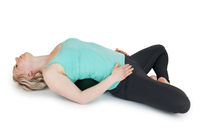 Yoga woman green position_128