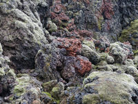 Lava am aktiven Vulkan Leirhnjukur in Island