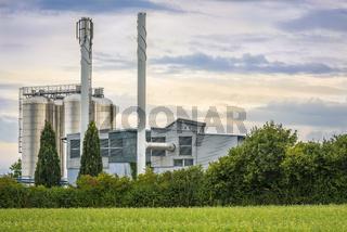 Bio energy plant close up