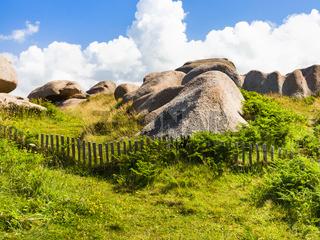 granite rocks in natural park of Ploumanac'h site