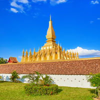 View of the Pha That temple. Vientiane, Laos