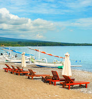 Amed beach, Bali island, Indonesia