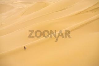 Khongor Els Sand Dune Person Relative Scale Gobi