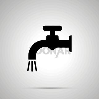 Water crane silhouette, simple black icon