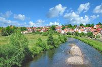 Blick auf Breitungen an der Werra,Thueringen,Deutschland