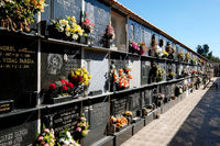 Cemetery niches in a Torrevieja city. Costa Blanca. Spain