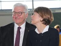 Bundespräsident Dr. Frank-Walter Steinmeier mit Ehefrau Elke Büdenbender  beim Antrittsbesuch am 14.02.2018  in Wolmirstedt
