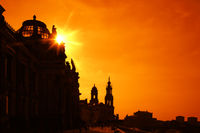 city of Dresden Germany at sunset