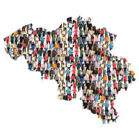 Belgien Karte Leute Menschen People Gruppe Menschengruppe multikulturell
