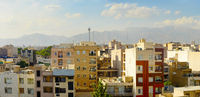 Tehran panorama at sunset. Iran