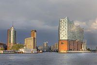 Hamburger Hafen, Elbphilharmonie, Hanseatic Trade Center, Hafencity, Hamburg, Deutschland, Europa
