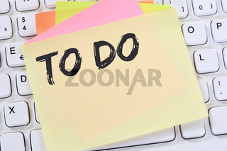 To Do To-Do-Liste Zettel Checkliste Liste Business Konzept Notizzettel