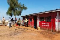 Shop area in countryside kenya