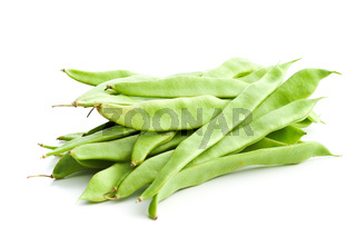 Green string beans pods