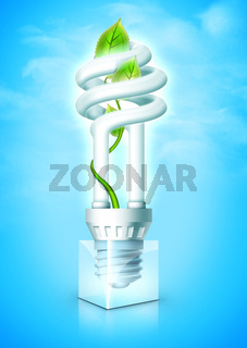 Luminous Bulb With Plant
