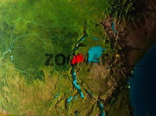Orbit view of Rwanda