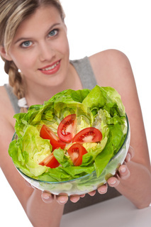Healthy lifestyle series - Woman with salad