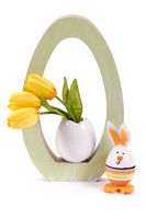 easter egg and bunny as decoration