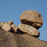 Unique granite rocks in Hampi, Karnataka.