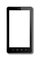 smartphone, digital tablet pc template isolated on white