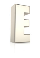 Letter E Isolated on White Background