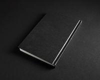 Black hardcover book