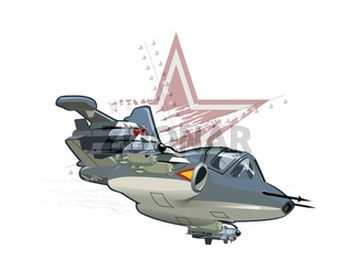 Cartoon Military Airplane