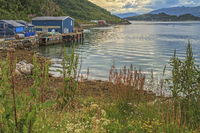 Part Of Harbour At Sommaroy Island Tromso Norway