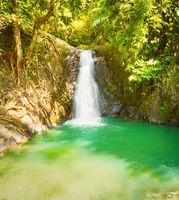 Beautiful Kaeng Nyui Waterfalls. Laos landscape.