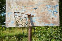 Abandoned Basketball Dunk